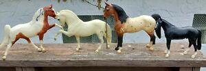Vintage BREYER Horses, Lot of 4 spotted black white brown