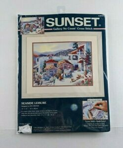 Vintage Dimensions Sunset 13955 Seaside Leisure No Count Cross Stitch Kit