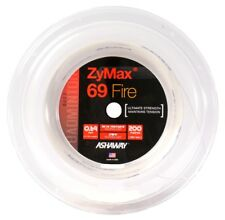 ASHAWAY ZYMAX 69 FIRE 200M COIL BADMINTON RACKET STRING WHITE COLOUR