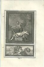 1780 ERCOLANO Antiquités Herculanum Satiro Baccante fauno pan erotismo David