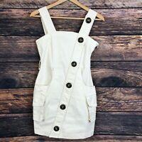NASTY GAL Women's Beige Mini Dress Size UK10