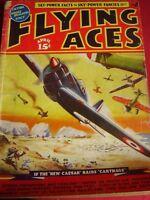 RARE VINTAGE MODEL AIRCRAFT MAG FLYING ACES APRIL 1939 CAESAR CARTHAGE CURTIS XP