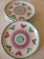 Caleca Violetta Hand Painted in Italy -Purple/Green - Salad Plate(s) - 6 Avail