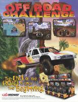 Off Road Challenge Arcade FLYER Original NOS Midway 1997 Game Art Toyota Trucks