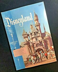 1957 Complete Guide To DISNEYLAND Souvenir Booklet Disney Theme Park Travel Book