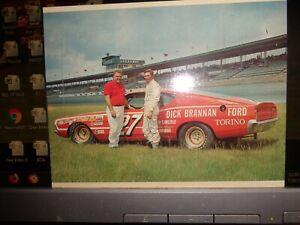 1968 Donnie Allison & Banjo Matthews No. 27 Ford Vintage NASCAR Postcard