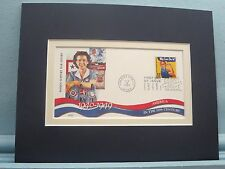 Rosie the Riveter help wins WWII and First day Cover of its own stamp