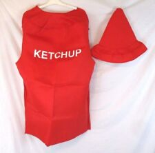 Ketchup Costume Halloween Adult Unisex Red Two Piece OSFM HA10E