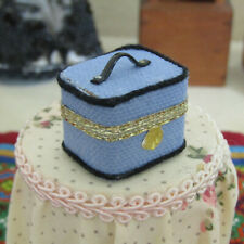 Dollhouse ARTISAN TRAIN CASE Miniature TRAVEL TRUNK Luggage Artist Suitcase Box