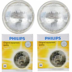 2 pc Philips High Beam Headlight Bulbs for Oldsmobile 442 98 Classic 98 zs