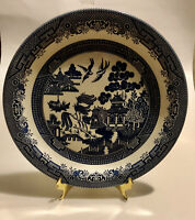 CHURCHILL Willow Blue Round Serving Platter/Chop Plate 12.75 inches