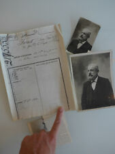Lot de documents sur Charles Forest, brevet sous-marin, 1890, photos originales