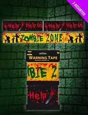 2 x HALLOWEEN PARTY 6M ZOMBIE ZONE WARNING FRIGHT TAPE DECORATION BANNER GARLAND