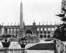 1893 WORLD'S COLUMBIAN EXPOSITION COLONNADE 8x10 SILVER HALIDE PHOTO PRINT