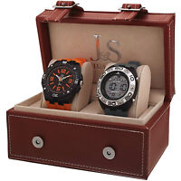 Joshua & Sons JS7401 Men's Swiss Quartz Digital/Analog Strap Watch Set