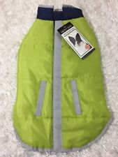 "Zack & Zoey Dog Coat Reversible Reflective Jacket size Large Citron Fit 16"" Dogs"