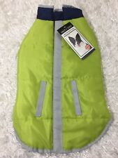 "Zack & Zoey Dog Coat Reversible Reflective Jacket size Small Citron Fit 12"" Dogs"