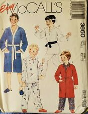 Vtg McCall's pattern 3860 Boys' Robe or Jacket & Pajamas size Small (7-8) uncut
