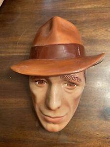 Humphrey Bogart Clay Art Mask,  San Francisco Made. Very Nice Shape!