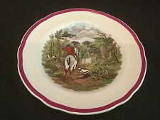 RARE RED RIM COPELAND SPODE HERRING HUNT 1 SALAD PLATE DRAWING THE DINGLE