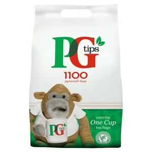 PG Tips 1100 Pyramid Bags Catering One Cup Tea Bags 2.2kg