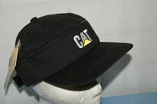 CAT CATERPILLAR BLACK ZIP OFF VISOR BASEBALL CAP HAT BNWT ONE SIZE NOT NIKE
