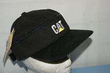 CAT CATERPILLAR BLACK ZIP OFF VISOR BASEBALL CAP HAT BNWT ONE SIZE NOT NIKE