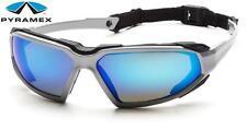Pyramex Highlander Blue Mirror Anti Fog Lens Safety Glasses Sunglasses Z87.1