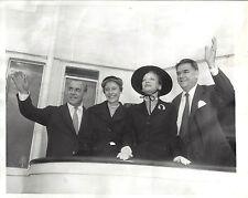 "Richard Rodgers ""KING AND I"" Oscar Hammerstein / London Trip 1953 Press Photo"