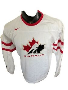 MENS Large Nike Hockey Long Sleeve Cotton Shirt Team Canada Hockey