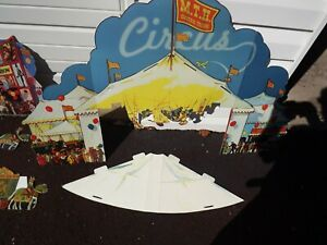 """MTH 10-1125A TINPLATE TRADITIONS """"IVES CIRCUS STANDING DIORAMA"""""""