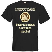 getshirts - RAHMENLOS® Geschenke - T-Shirt - Fun - Stoppt mich