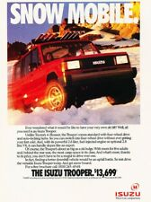 1990 1991 Isuzu Trooper Snow Mobile Original Advertisement Print Art Car Ad J951