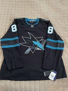 Adidas San Jose Sharks Brent Burns 88 Alternate Hockey Jersey DW4832 Size 56