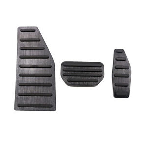 Fit For Suzuki Jimny Black Gas Brake Pedal Footrest Pad Cover Trim Protection