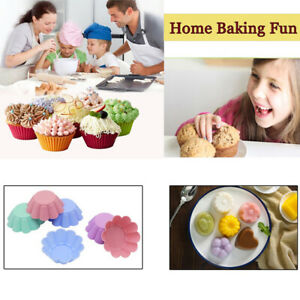 Silicone Mold Cupcake 6pcs Cake Mold Muffin Baking Silicone Cake Mold Muff_cd