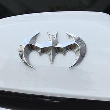 1X Car Auto SUV Off Road 100% Metal Silver Batman Tailgate Emblem Sticker Badge