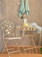 Gartentisch Vintage Metalltisch Tisch Antik Weiss Shabby Metall Eisentisch Teras