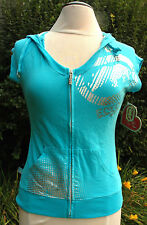 Women's Ecko Red Knock You Out Hoody Short Sleeve Aqua Blue Size XL $58.00 NWT