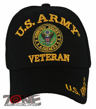 NEW! US ARMY STRONG VETERAN ROUND CAP HAT BLACK