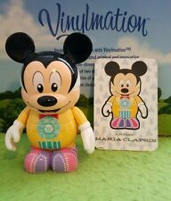 "DISNEY VINYLMATION Park - 3"" Set 4 Spectro Magic Mickey Mouse w/ Card"