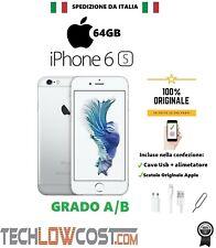 iPhone 6S Silver Bianco 64GB Apple Ricondizionato Accessori Garanzia GRADO A/B