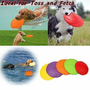 15 18 22CM Dog Rubber Frisbee Throwing Training Multifunctional Bites Resist toy