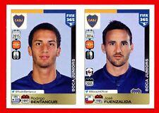 FIFA 365 2015-16 PANINI 2016 -Figurina Stiker- n. 93/94 BENTANCUR-FUE-BOCA J-New