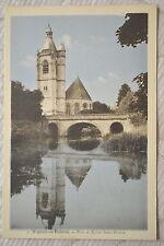 """CPA """" NOGENT LE ROTROU - Pont et Eglise Saint-Hilaire"""