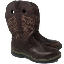 WOLVERINE Cowboy Boots 12 M Mens Leather Western Work Boots Motorcycle Boot Euc