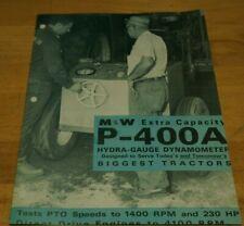 P 400a Hydra Gauge Mampw Gear Co Dyno Dynamometer Brochure P400a Pulling Tractor
