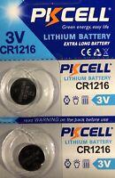 CR1216 Lithium PKCELL Watch Battery ECR1216 DL1216 3V (2 Battery )USA Seller