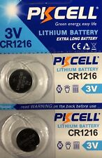 CR1216 Lithium Watch Battery ECR1216 DL1216 3V Battery PKCELL (2 Battery )