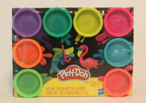 8 Pack of Neon Play-Doh Non-Toxic Modeling Compound with 8 Colors